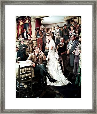 Errol Flynn In Dodge City  Framed Print by Silver Screen