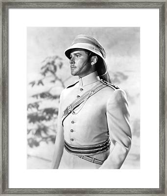 Errol Flynn In The Charge Of The Light Brigade Framed Print