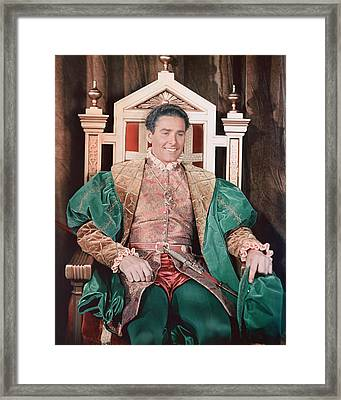 Errol Flynn In The Private Lives Of Elizabeth And Essex Framed Print by Silver Screen