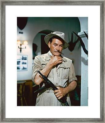 Errol Flynn In The Roots Of Heaven Framed Print by Silver Screen