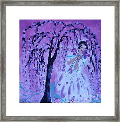 Erte'sblossom Umbrella Framed Print by Marie Bulger
