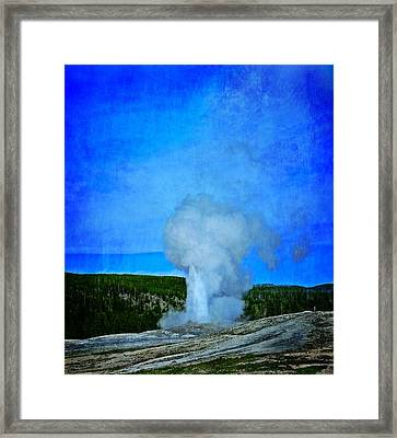Eruption In Yellowstone Framed Print