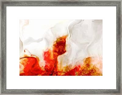Eruption Framed Print by Jack Zulli