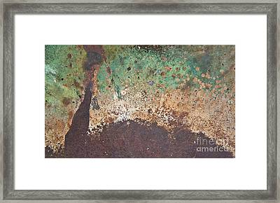 Eruption Volcanic Abstract Framed Print by Lee Craig