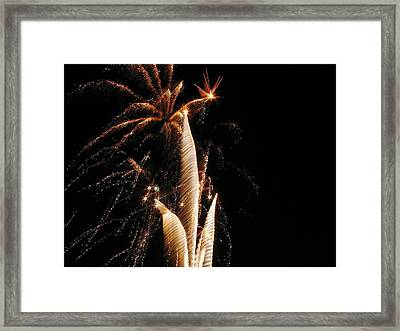 Eruptions In The Night Framed Print by Steven Parker