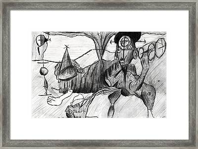 Eruptions Of Self Consciousness  Framed Print by Don Lee