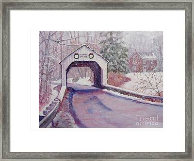 Erwinna Covered Bridge Framed Print