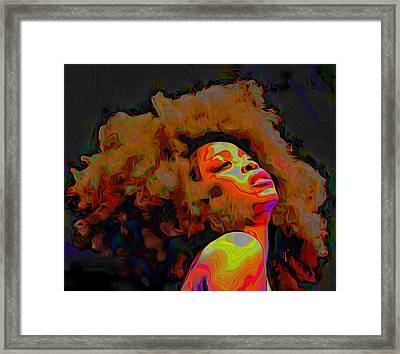 Erykah Badu Framed Print by Fli Art