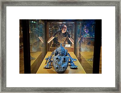 Eryops Skeleton Framed Print by Philippe Psaila