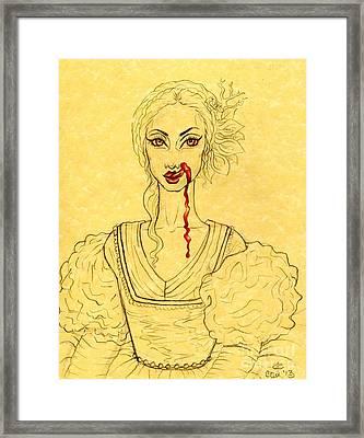 Erzibeth Bathory Framed Print by Coriander  Shea