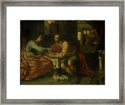 Esau Selling His Birthright, Copy After Paulus Moreelse Framed Print by Litz Collection