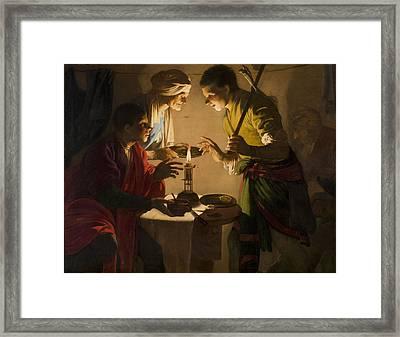 Esau Selling His Birthright Framed Print by Hendrick ter Brugghen