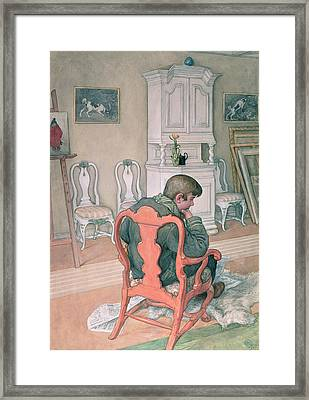 Esbjorn Convalescing Framed Print by Carl Larsson