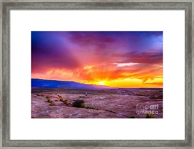 Escalante Sunset 2 Framed Print by Scotts Scapes