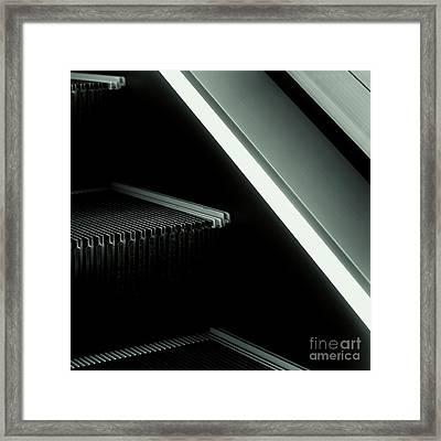 Escalator 04 Framed Print by Noir Blanc