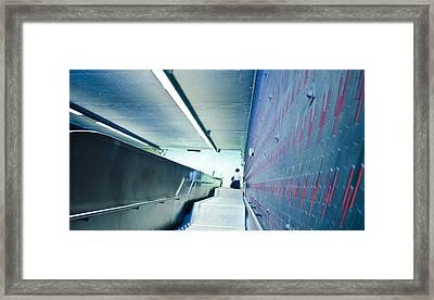 Escalator Blues Framed Print by Eric Soucy