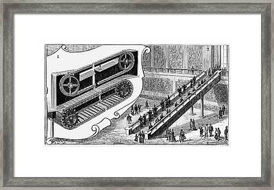 Escalator Framed Print by Universal History Archive/uig
