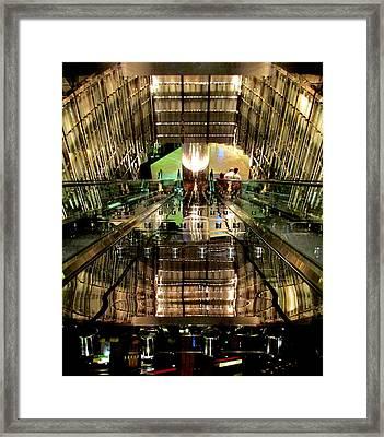 Escalators Escalating Framed Print