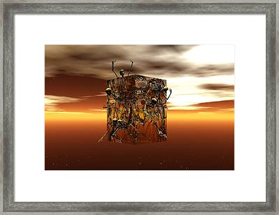Framed Print featuring the digital art Escape Attempt by Claude McCoy