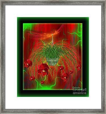 Framed Print featuring the digital art Escape - Floral Abstract Art By Giada Rossi by Giada Rossi