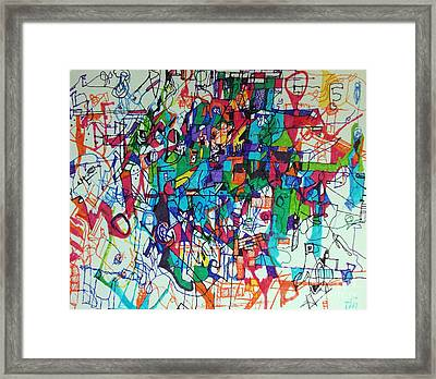 Escape From Hatred 1 Framed Print by David Baruch Wolk