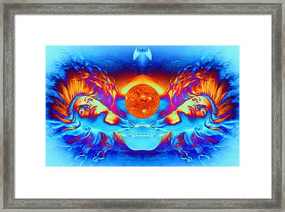 Escape From The Sun Framed Print by Matthew Lacey