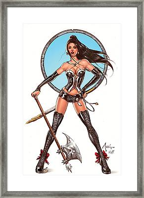 Escape From Wonderland Calie Framed Print