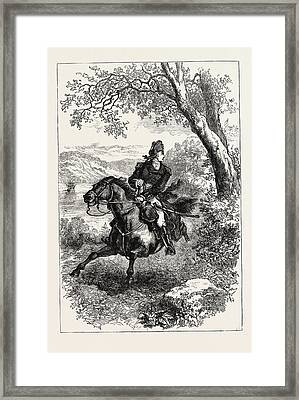Escape Of Benedict Arnold, 1740-1801 Framed Print by English School