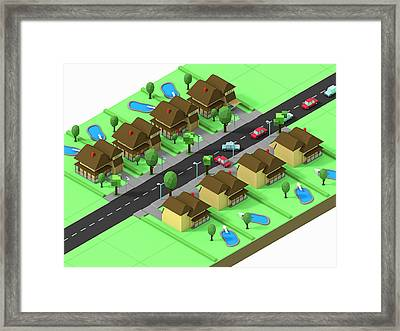 Escape Suburbia Framed Print