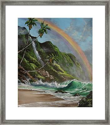 Escape To Paradise Framed Print by Marco Antonio Aguilar