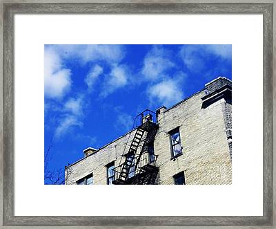 Escape To The Clouds Framed Print by Sarah Loft