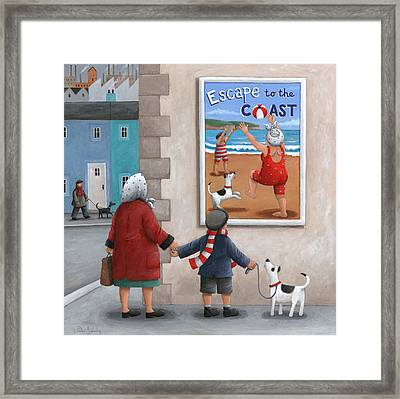Escape To The Coast 2 Framed Print by Peter Adderley