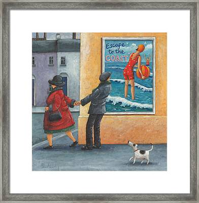 Escape To The Coast Framed Print by Peter Adderley