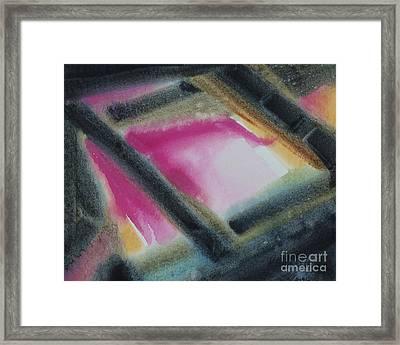 Escape Window Framed Print by Kathy Braud