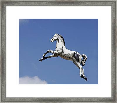 Escaped Carousel Horse Framed Print