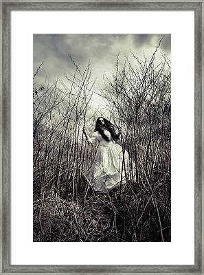 Escaping Bride Framed Print