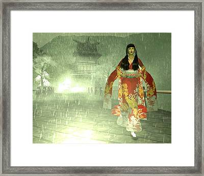 Escaping Her Feudal Lord Framed Print
