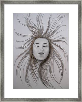 Escaping Framed Print by Lynet McDonald