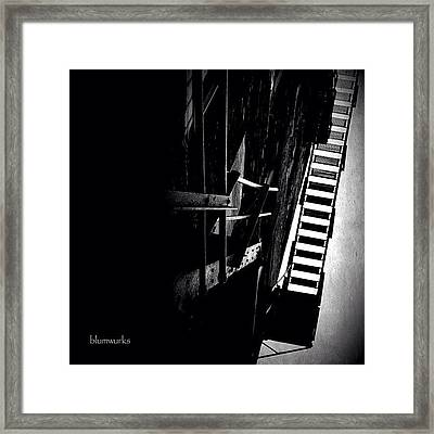 Escaping The Darkness Framed Print