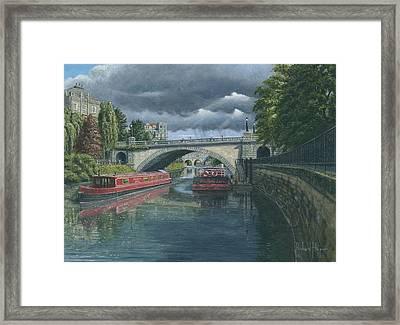 Escaping The Storm North Parade Bridge Bath Framed Print