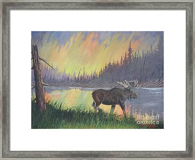 Escaping The Yellowstone Fires Framed Print