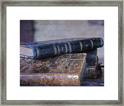 Escapism - An Untidy Pile Of Books Framed Print by Georgia Fowler