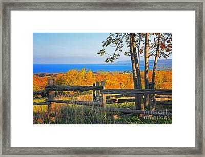 Escarpment Fall Colors Framed Print