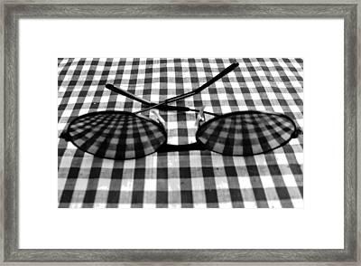Escher Drops His Glasses By Darryl Kravitz Framed Print by Darryl  Kravitz