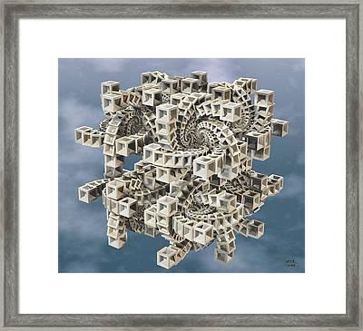 Escher's Construct Framed Print