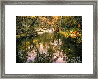 Escondido Creek In Evening Light Framed Print