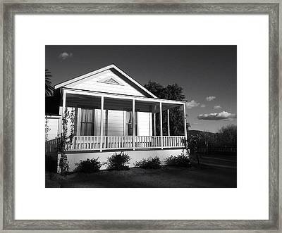 Escondido Farmhouse Framed Print