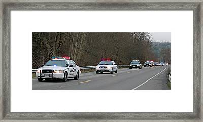 Escort For A Fallen Comrade Framed Print by E Faithe Lester