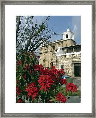 Escuela De Cristo Church Antigua Framed Print by Kurt Van Wagner