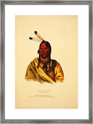 Esh Ta Hum Leah  A Sioux Chief Framed Print by Celestial Images